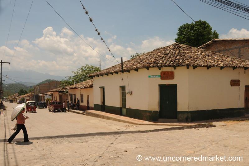 Crossing the Street  - Gracias, Honduras
