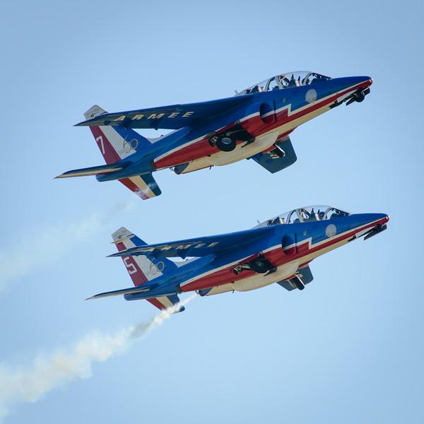Patrouille de France airshow 60th birthday, Salon de Provence, 2013