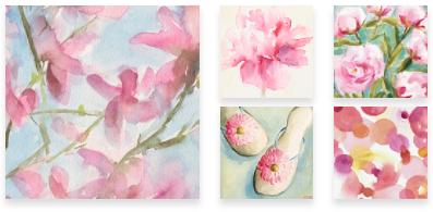 Pink Wall Art for Sale - Beverly Brown Artist - www.beverlybrown.com