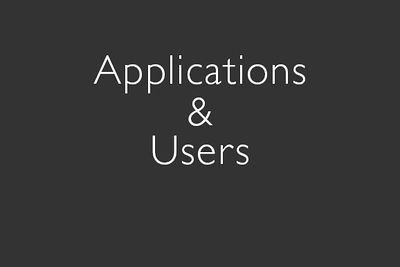 Applications & Users-For non-commercial use only (no adverts) In doubt? Ask!