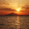 Sunset over Mount Athos, Lemnos