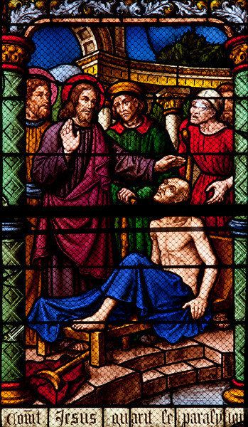 Chalons-en-Champagne Cathedral Christ Healing a Lame Man