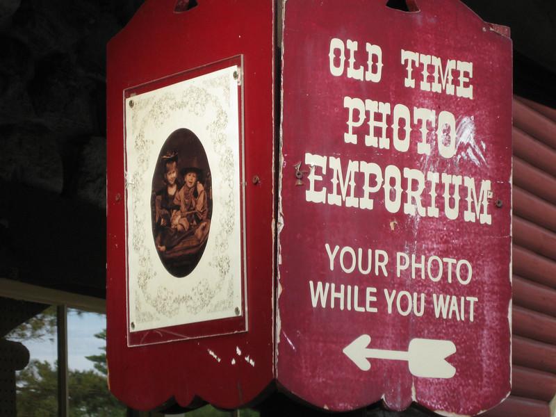 Old Time Photo Emporium sign.