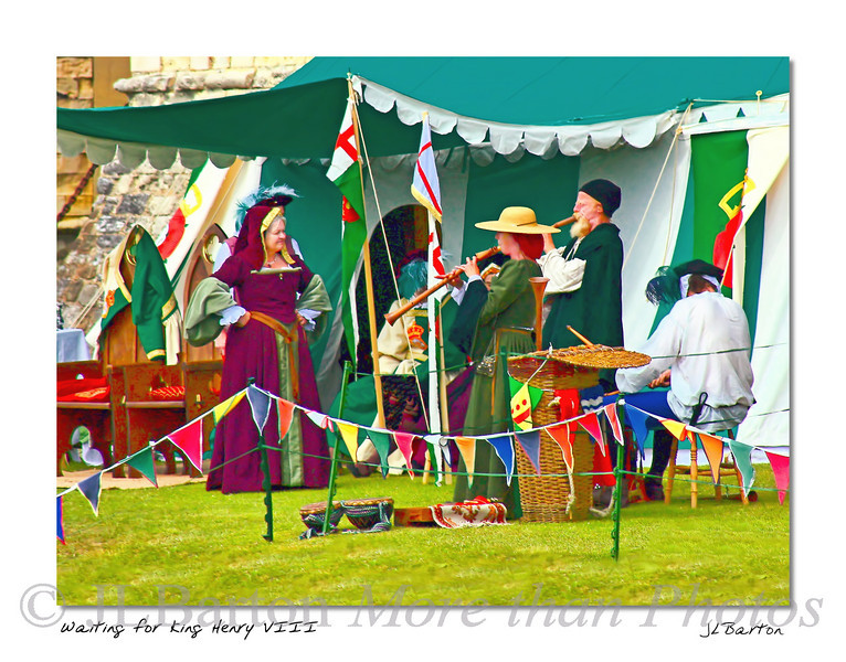 Dover Castle Festival Practicing while awaiting the arrival of King Henry Dover, UK