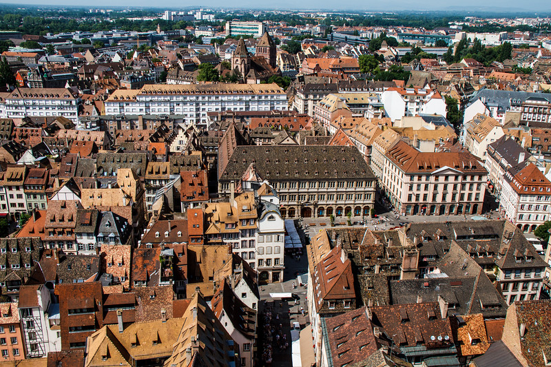 Nice panoramic view of Strasbourg shot from the Cathedral roof.