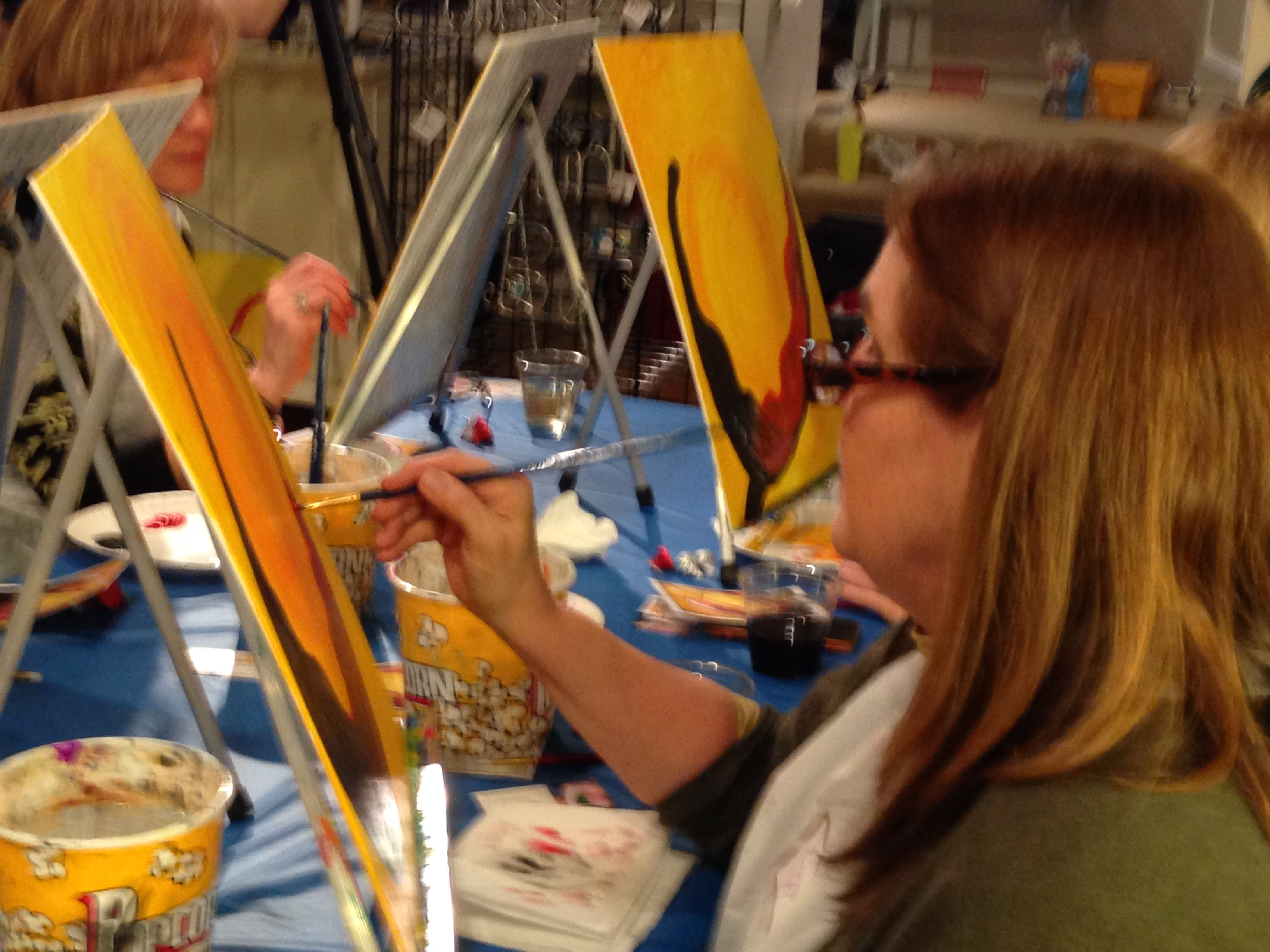 The H'Art of Chagrin wine and painting party 2/12/16