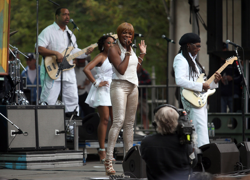 . Chic performs on the Sutro stage during the 6th annual Outside Lands Music and Arts Festival in Golden Gate Park in San Francisco, Calif., on Friday, Aug. 9, 2013. . (Jane Tyska/Bay Area News Group)