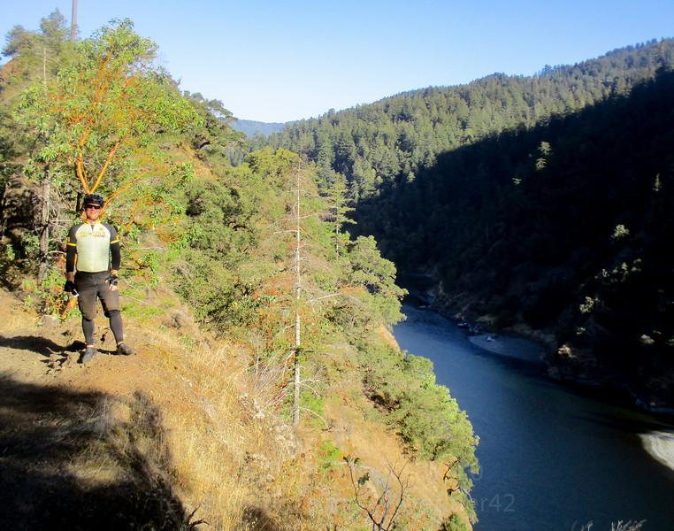 Jeremy along the Rogue River.