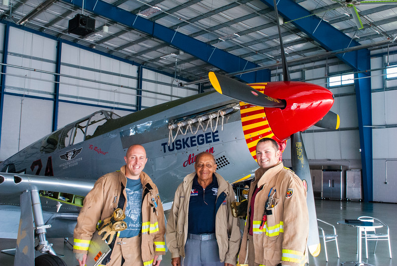 Harold and first responders at the Liberty Aviation Musem