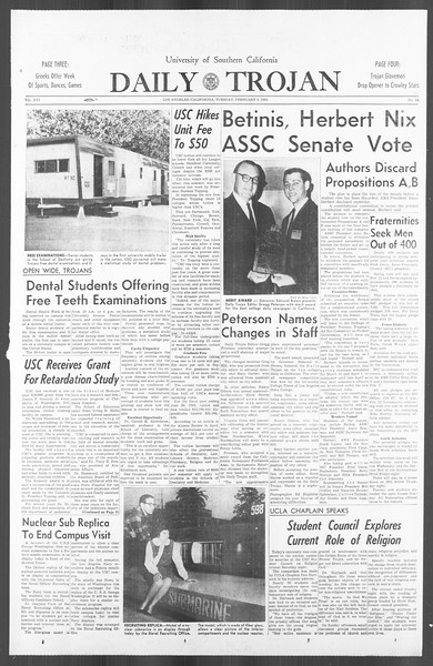 Daily Trojan, Vol. 56, No. 59, February 09, 1965