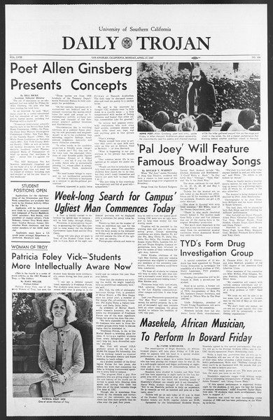 Daily Trojan, Vol. 58, No. 106, April 17, 1967