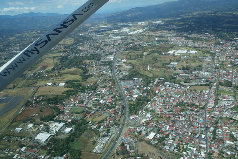 View of San Jose area en route to Puerto Jimenez.