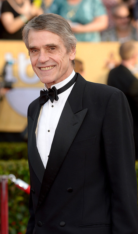 . Jeremy Irons arrives at the 20th Annual Screen Actors Guild Awards  at the Shrine Auditorium in Los Angeles, California on Saturday January 18, 2014 (Photo by Michael Owen Baker / Los Angeles Daily News)