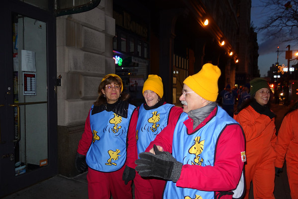 2013-11-28 Participating in Macy's Thanksgiving Day Parade with Friends from The New York Times