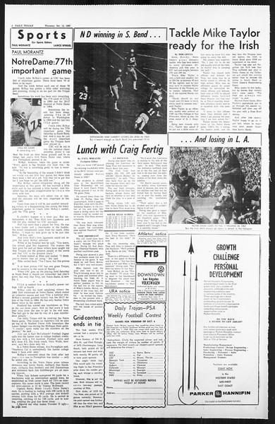 Daily Trojan, Vol. 59, No. 19, October 12, 1967