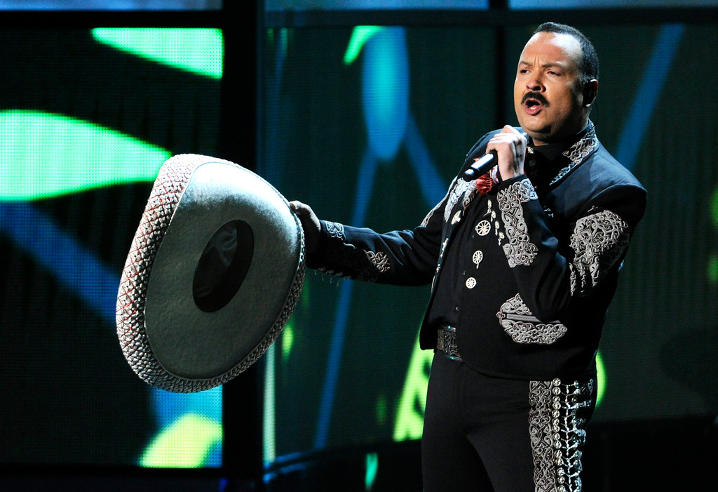 . Pepe Aguilar performs at the 15th annual Latin Grammy Awards at the MGM Grand Garden Arena on Thursday, Nov. 20, 2014, in Las Vegas. (Photo by Chris Pizzello/Invision/AP)