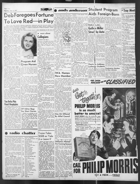 Daily Trojan, Vol. 39, No. 54, December 02, 1947