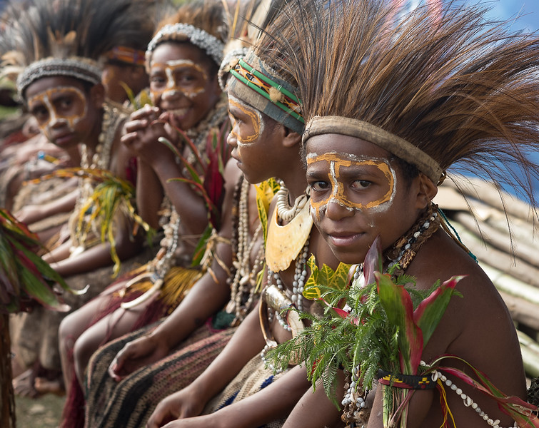 Young Boys from the Milkil Peoples of Simbu Province Goroka Show Sing-Sing 2019 Independent State of Papua New Guinea