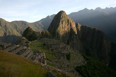 MACHU PICCHU, CUSCO, PERU - Morning light.