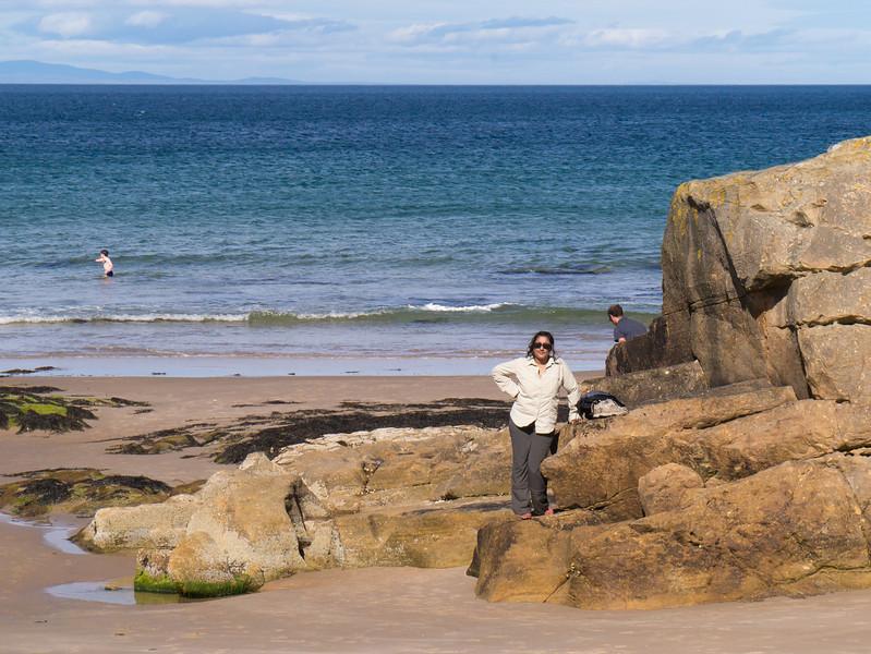 Becca on the beach