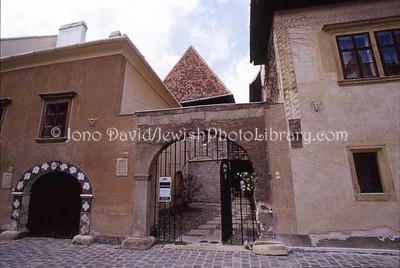 HUNGARY, Sopron. Soproni Muzeum and 14th century synagogue (built ?1300-1320). (1998, 2006)