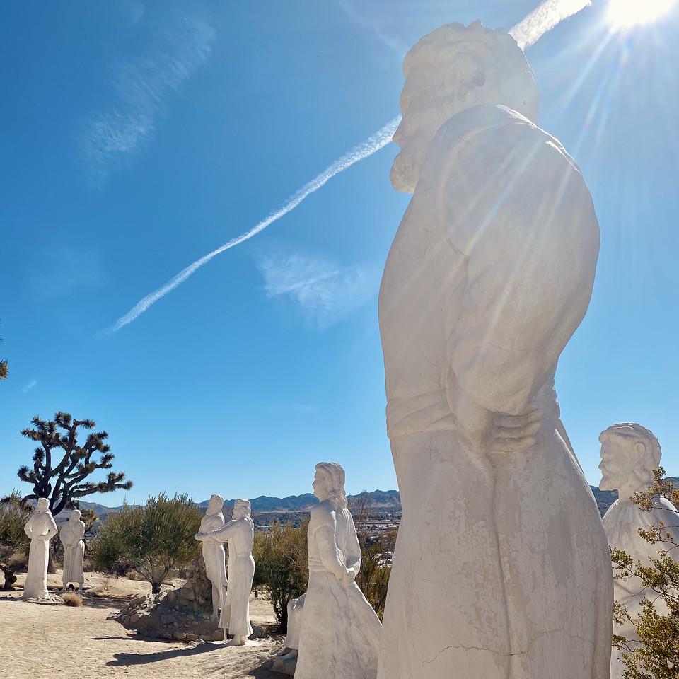 Christ Desert Park Yucca Valley California sculptures