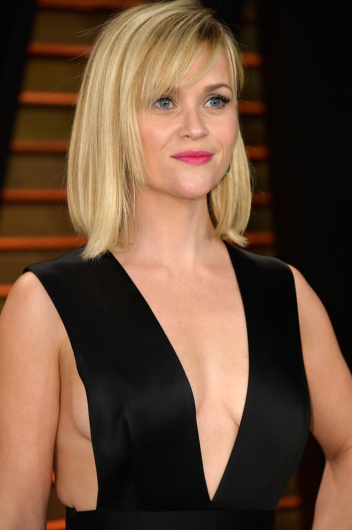 . Actress Reese Witherspoon attends the 2014 Vanity Fair Oscar Party hosted by Graydon Carter on March 2, 2014 in West Hollywood, California.  (Photo by Pascal Le Segretain/Getty Images)