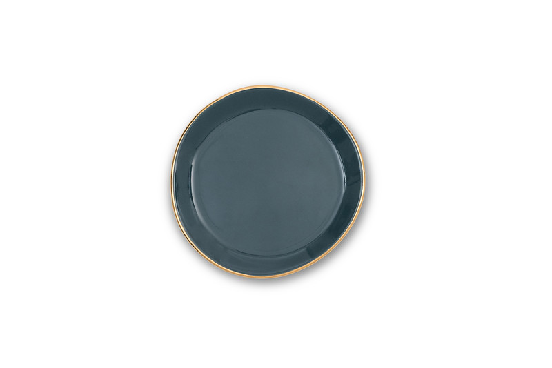 UNC Good Morning Plate Small - Blue Green