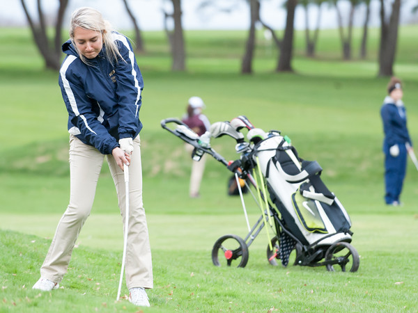 04/30/18 Wesley Bunnell   Staff Newington girls golf vs New Britain on Monday afternoon at Indian Hill Golf Club in Newington. Newington's Chloe Bilodeau.