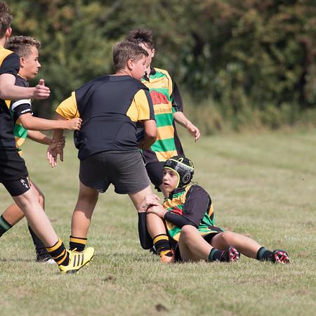 U14's  Owen Jenkins Memorial Rugby Match keyworth v  Mellish