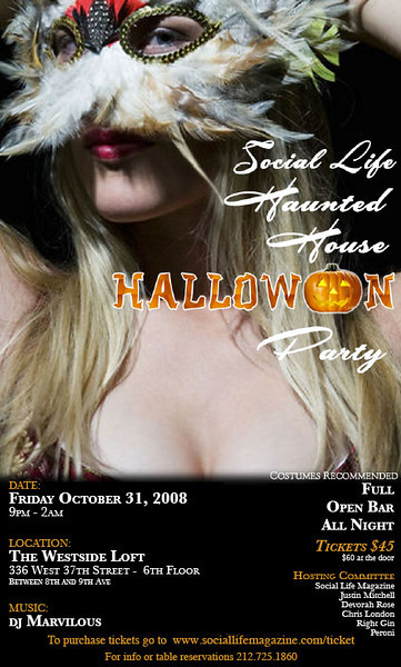 Social Life Magazine Haunted House Halloween Party