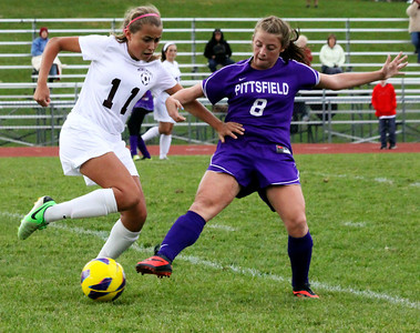 Pittsfield HS girls soccer at Monument Mountain-102313