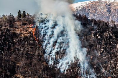 Fire in Ponte Brolla