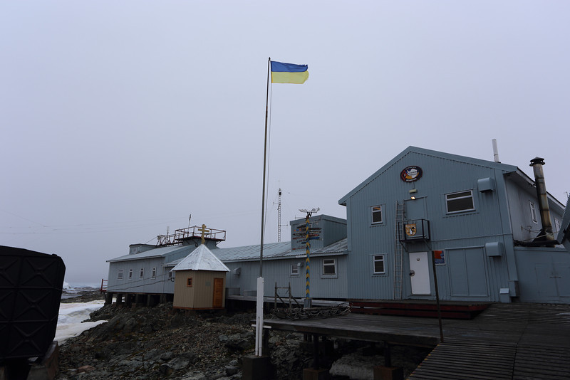 Akademik Vernadsky Station, Galindez Island 65 15S, 64 16W, it's not far from Wordie House.