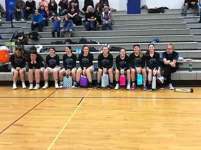 Sullivan West vs. Burke Catholic Girls Basketball Senior Night