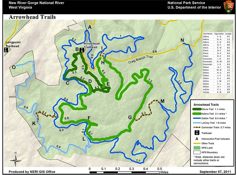 New River Gorge National Park and Preserve (Arrowhead Bike Trails)