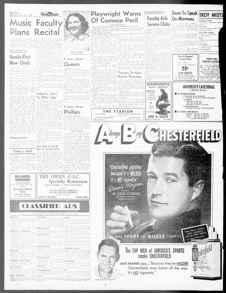 Daily Trojan, Vol. 40, No. 83, February 21, 1949