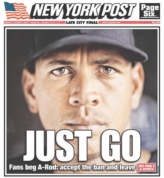 """. <p><b><a href=\'http://www.twincities.com/sports/ci_23803852/sanseveres-huddle-talkin-rod-vikings-and-johnny-football?source=rss\' target=\""""_blank\""""> 2. Alex Rodriguez </a></b> <p>So slimy he�s getting lectured on ethics by Pete Rose. (2) <p> --------------------------------------------  (New York Post cover)"""