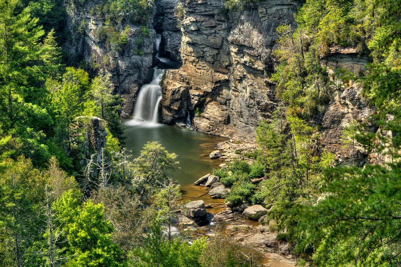 Linville Falls on the Blue Ridge Parkway in North Carolina