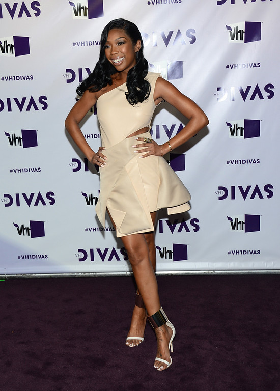 ". LOS ANGELES, CA - DECEMBER 16:  Singer Brandy attends ""VH1 Divas\"" 2012 at The Shrine Auditorium on December 16, 2012 in Los Angeles, California.  (Photo by Michael Buckner/Getty Images)"