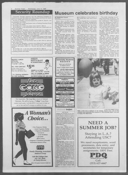 Summer Trojan, Vol. 107, No. 6, June 15, 1988