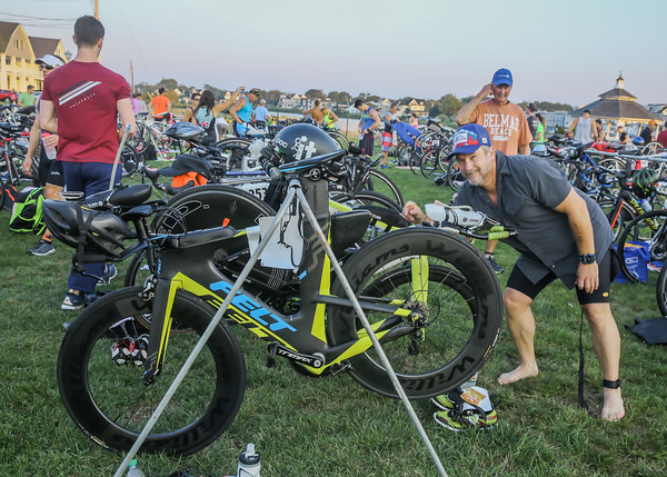 Transition Area Audience Racers Bikes