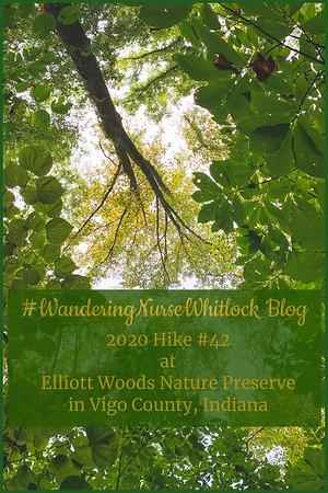 2020 Hike #42 on September 13th at Elliott Woods Nature Preserve within Prairie Creek Park in Vigo County Indiana