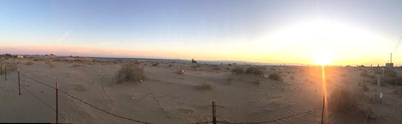 Sonora Rally 2018 - Trip Home Sunset over El Golfo de Santa Clara