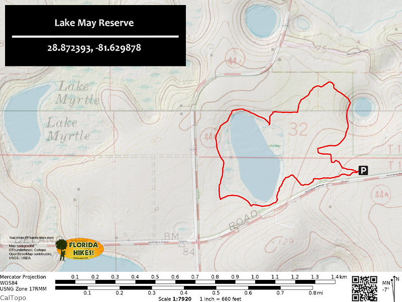 Lake May Reserve Trail Map