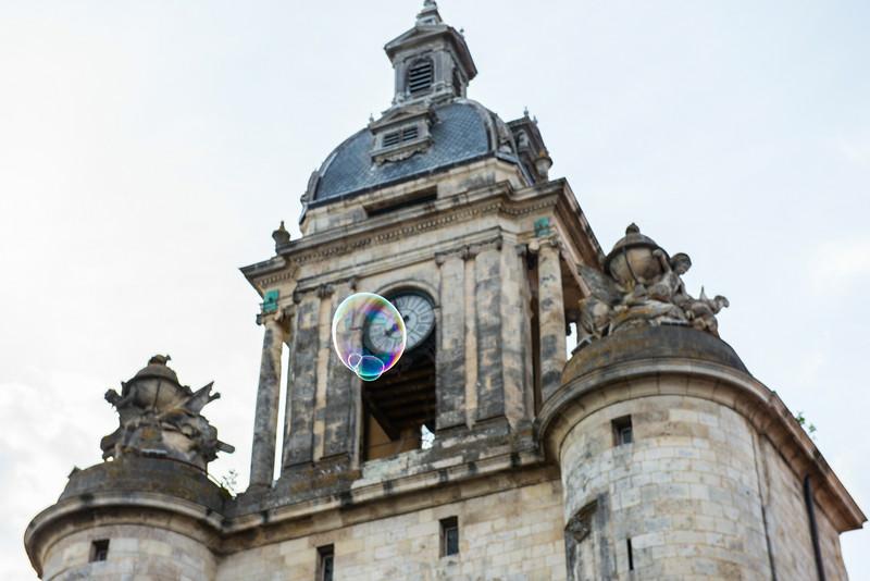 Bubble from a street performer in La Rochelle