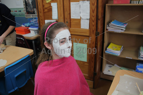 8th grade mask-making . 3.5.12