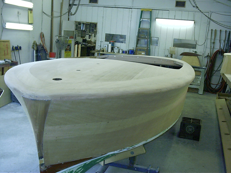 Port front view of sanded deck.