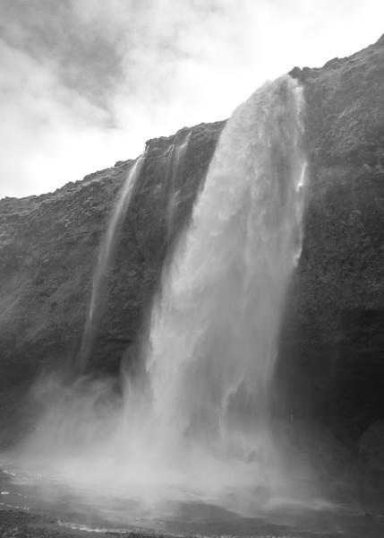 Kirkjufelssfoss in B & W    Black and White Photography by Wayne Heim