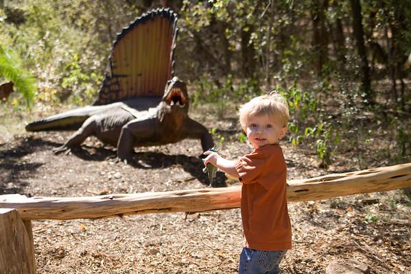 Dinoland Exhibit at Zilker Botanical Gardens - November 7, 2008